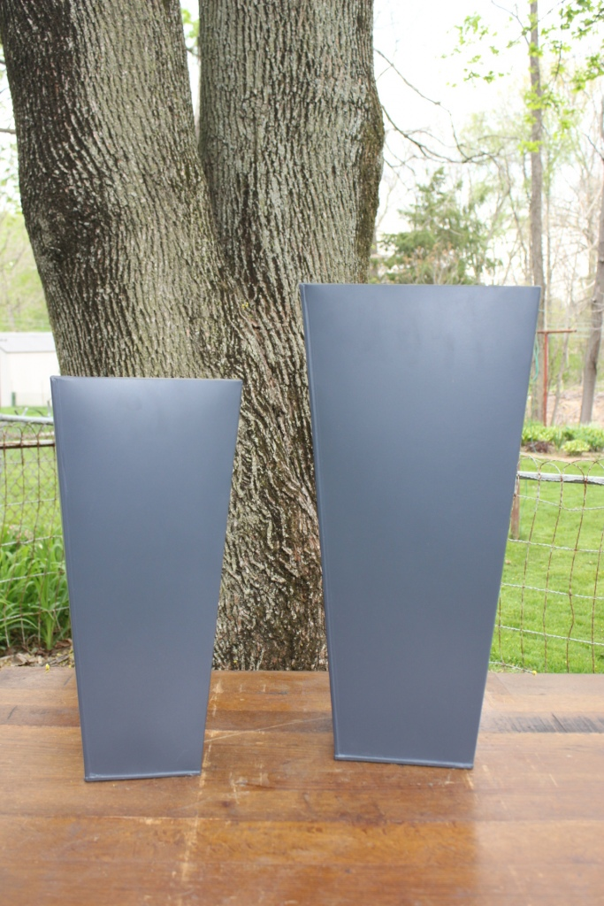 Set Of Galvanized Vases Event Planner Fancy Peacock Events